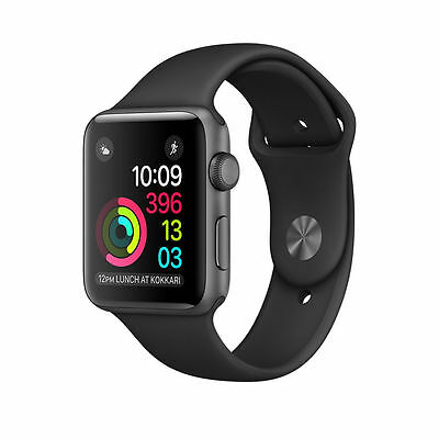 $ CDN200.73 • Buy Apple Watch Series 1 38mm Space Gray Aluminum Case Black Sport Band (MP022LL/A)