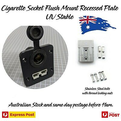 AU27.79 • Buy 50 Amp Anderson Plug To Cigarette Socket Flush Mount Recessed Plate UV STABLE