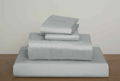 1000-800-600tc 100%cotton Silversolid Sheet/duvetset/fitted-12in. Deep Uk~sizes  • 49.98£