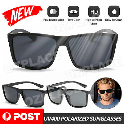 AU12.95 • Buy Polarized Mens Sunglasses Polarised New Style Square Frame Glasses Aus Seller