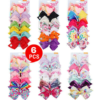 AU10.13 • Buy 6pcs Signature For Jojo Siwa Bows Girls Fashion Hair Accessories Party Gift