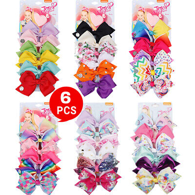 AU9.75 • Buy 6pcs Signature For Jojo Siwa Bows Girls Fashion Hair Accessories Party Gift