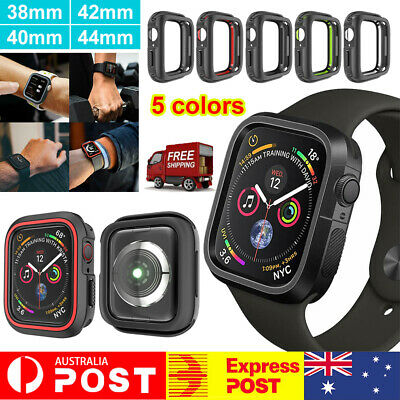 AU8.97 • Buy 38 40 42 44mm For Apple IWatch Case Series 6 SE 5 4 3 TPU Protective Bumper Case