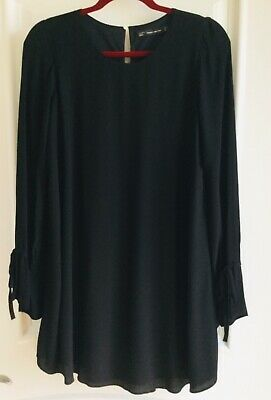 $21.99 • Buy NWOT  Zara Trafaluc Collection Black Flare Casual Dress Small
