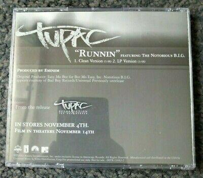 2Pac - Runnin Feat Notorious B.I.G (Promo CD Single) 2003 • 5.99£