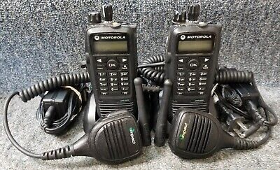 $437.77 • Buy Motorola XPR6550 UHF Digital DMR MotoTrbo Set Of 2 Radios 403-470 GOOD With Mics