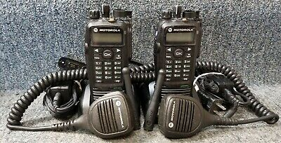 $587.77 • Buy Motorola XPR6550 UHF Digital DMR MotoTrbo Set Of 2 Radios Refurbished W OEM Mics
