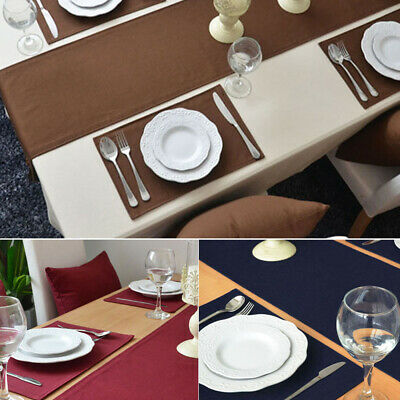 AU18.54 • Buy Cotton Table Runner Tablecloth Dining Cafe Table Cloth Plain Banquet Table Decor