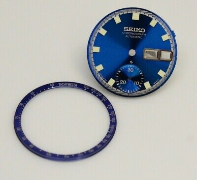 $ CDN62.84 • Buy New Dial For Vintage SEIKO Chronograph 6139-6012 6010 6011 Blue With Dial Ring