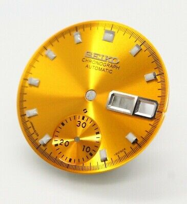 $ CDN55.85 • Buy SEIKO Dial 6139-6002 6005 6000 Yellow Gold Proof 70m Resist Blue Silver Pogue