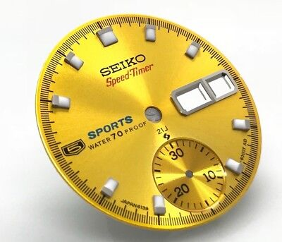 $ CDN139.66 • Buy Dial For Vintage Seiko 5 Sport Pogue Chronograph Watch 6139-6000 Speedtimer