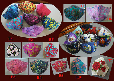$17.50 • Buy Batik Cloth Mask High Quality Cup-shaped Reversible 3 Layers Nose Wire & Pocket