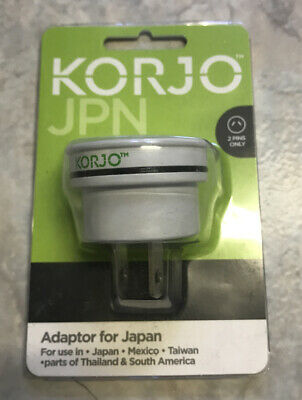 AU13.95 • Buy Korjo Travel Adaptor For Japan, Mexico, Taiwan