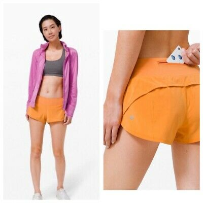 $ CDN68 • Buy NWT Lululemon Speed Up Shorts Size 10 Lined Running Monarch Orange New