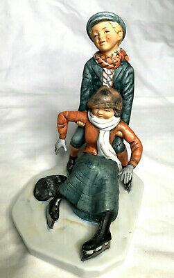 $ CDN17.52 • Buy GORHAM NORMAN ROCKWELL SATURDAY EVENING POST FIGURINE SKATING 1920  6 1/4  Tall