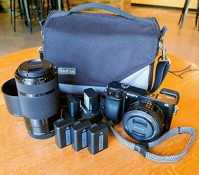 $ CDN646.95 • Buy Sony A6000 +16-50 F/3.5-5.6 Lens +55-210 F/4.5-6.3 Lens+5 Batteries+Case+Charger