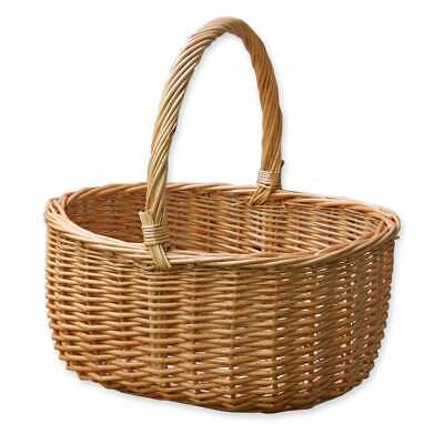 £28 • Buy Hollander Wicker Shopping Basket With Handle Woven Traditional Storage Shopper