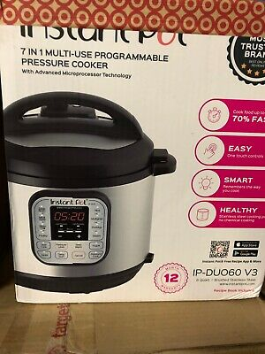 $45.99 • Buy Instant Pot DUO60 V3 6Qt 7-in-1 Multi-Use Programmable Pressure Cooker