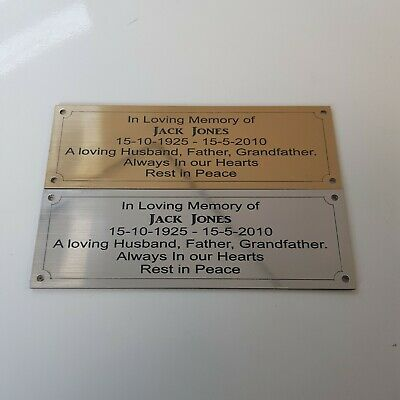 Engraved Bench Plaque 150mm X 50mm Fully Personalised With Shaped Inside Border • 4.50£