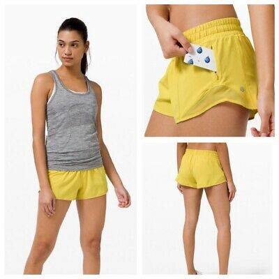 $ CDN68 • Buy NWT Lululemon Hotty Hot Shorts Size 12 Soleil Yellow New
