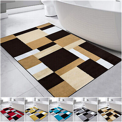 Bath Mat Water Absorbent Large Bathroom Rug Shower Pedestal Mats Washable Rugs • 12.94£