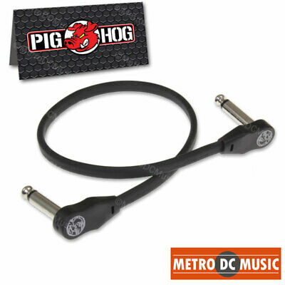 $ CDN10.10 • Buy Pig Hog Low Profile Flat 12  Right-Angle Patch Cable Cord Guitar Pedal 1/4 1 Ft
