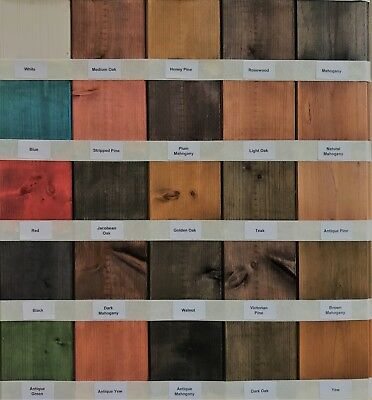 £4.95 • Buy Water Based Wood Stain / Wood Dye - Traditional & Vibrant Colour Range