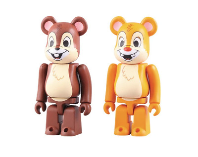 $69.99 • Buy Chip And Dale 100% Bearbrick Set Medicom Be@rBrick Rare Limited Disney 2010