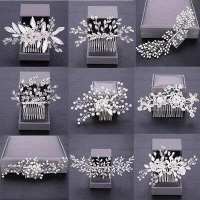 $ CDN9.88 • Buy Wedding Hair Combs Bridal Accessories For Women Jewelry Silver Rhinestone Head