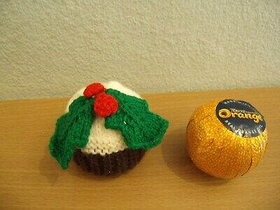 Knitting Pattern Christmas Pudding Chocolate Orange Cover With Holly & Berries  • 2.99£