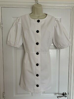 $1.50 • Buy Zara White Smock Tunic Dress Xxl 16 18 Puff Sleeve Shirt