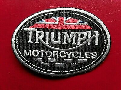 Triumph British Classic Motorcycles Bike Tt Embroidered Quality Patch Uk Seller  • 3.19£