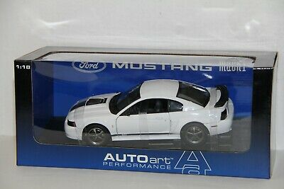 $ CDN475 • Buy 1/18 Autoart 2004 Ford Mustang Mach 1 , Oxford White , New , 73003