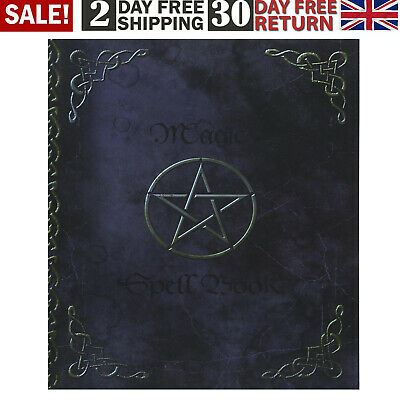 Witchery Magic Spell Book Of Shadows Grimoire Gifts 90 Blank Spells Records • 6.28£