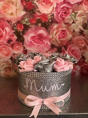 £18 • Buy Personalised Artificial Rose Decoration Handmade Boxes Not Hat Boxes Gift Weddin