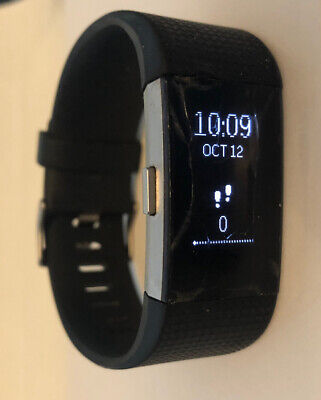 $ CDN32.65 • Buy Fitbit Charge 2 Fitness Activity Tracker  Black  - Hairline Cracks - Small- B11