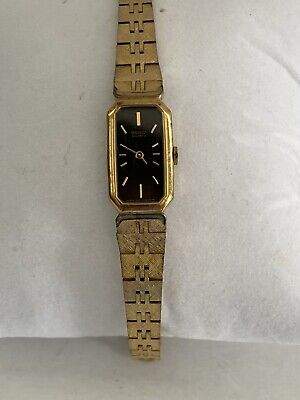 $ CDN25.36 • Buy Vintage Seiko Quartz Vintage Womens Watch Gold Tone Bracelet Rectangle Octagon