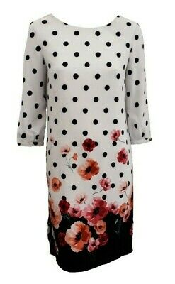 Ex M & Co Polka Dot And Poppy Printed Dress - Sizes 10 To 22  • 10£