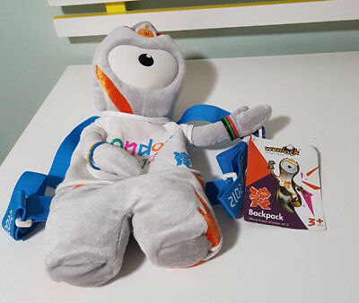 London 2012 Olympic Mascot Backpack With Tag! Wenlock 40cm! • 17.17£