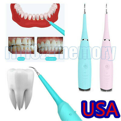 $13.99 • Buy Electric Ultrasonic Dental Scaler Tooth Stains Tartar Cleaner Teeth Whiten USA Q
