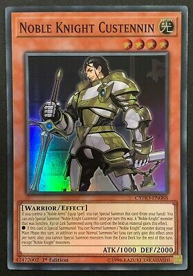 Noble Knight Custennin | CYHO-EN088 | Super Rare | 1st Edition | YuGiOh • 1.25£