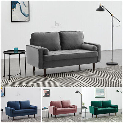 £239.99 • Buy Velvet Sofa 2 Or 3 Seater Couch Settee Suite Luxury Upholstered Cushion Sofa Set