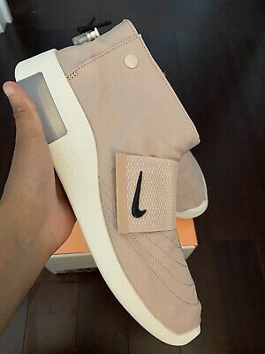 $100 • Buy Nike Air X Fear Of God FoG Moc Moccasin Particle Beige White Sz 9.5 Mens