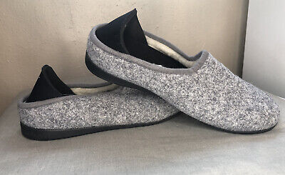 $15.99 • Buy Mahabis Classic Sz 37 Slip On Convertible Slippers Gray Removable Rubber Bottom