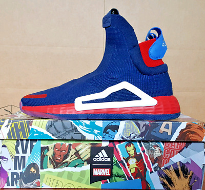 $ CDN279.95 • Buy Adidas N3XT L3V3L Marvel 'Captain America' Laceless Basketball Shoes EF2257