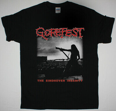 Gorefest The Eindhoven Insanity Black T Shirt Grave Dismember Benediction • 12.95£