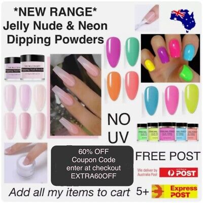 AU9.50 • Buy Dipping Powder Neon Jelly Nude 10ml Pot Nail Dip SNS NO UV Born Pretty Summer