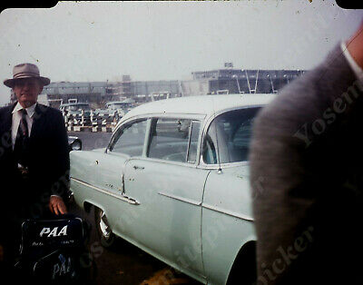 $7.99 • Buy Sl00 Original Slide 1950's Red Kodachrome Africa Airport Bel Air Car 644a