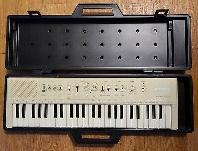 $179 • Buy Vintage 1980s Casio Casiotone MT-60 Music Keyboard W/Case Portable Synthesizer