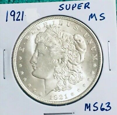 $33.90 • Buy 1921 Morgan Silver Dollar Super MS+ Mint Frosting
